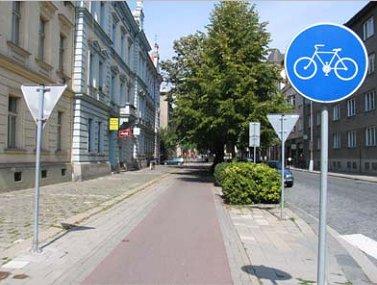 Samostatná cyklocestička, Prostějov