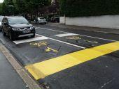 Predsunutá stop-čiara, Lausanne, Švajčiarsko