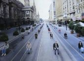 Využitie ulice v dopravnej zápche