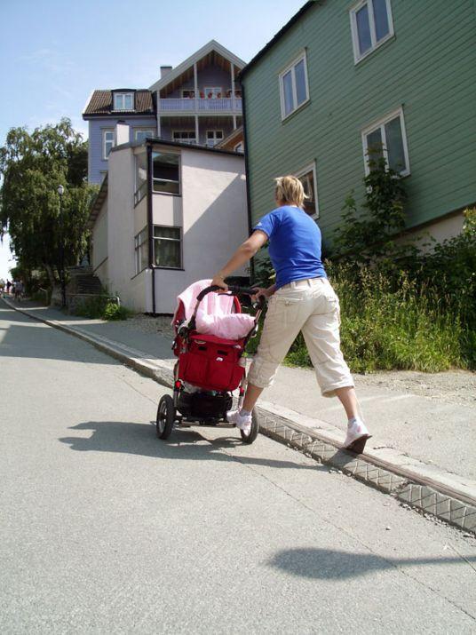 Cyklistický vlek, Trondheim, Nórsko